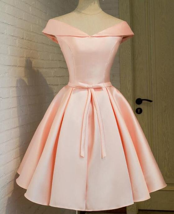 e3cad4574e7 Cute A Line Pink Homecoming Dress