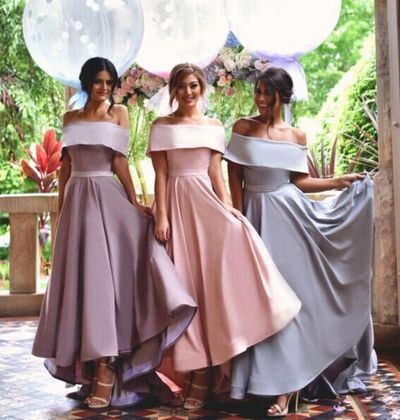 Off Shoulder Simple Bridesmaid Dress New Arrival Custom Bridesmaid Dress Wedding Party Dresses Long Bridal Gowns